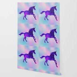 Purple Sparkly Unicorn Wallpaper