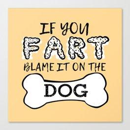 Dog House Rules Canvas Print