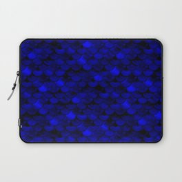 Dark Blue Scales Laptop Sleeve