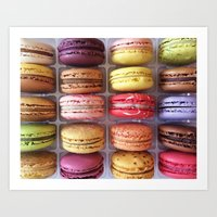 macarons Art Prints featuring Macarons  by Laura Ruth