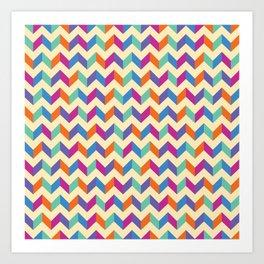 Coloured Chevron Art Print