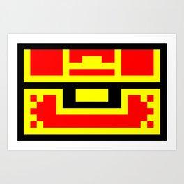 Treasure Chest, 8 bit like, gold, money, jewel, box Art Print