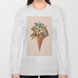 Ice Cream Floral (Salmon) Long Sleeve T-shirt