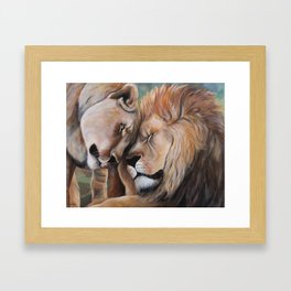 Strong Love Framed Art Print