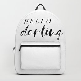 hello darling Backpack