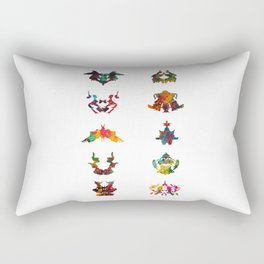 Collection of Rorschach inkblot tests Rectangular Pillow