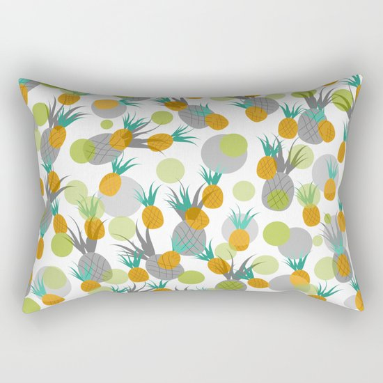 Pineapple Storm Rectangular Pillow