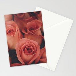 vintage pink roses Stationery Cards