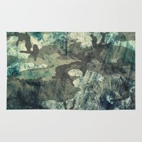 woodland Area & Throw Rugs featuring Woodland by Sander Smit
