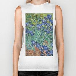 Irises by Vincent van Gogh Biker Tank
