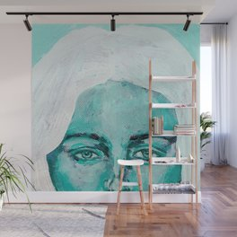 Mint Girl Wall Mural
