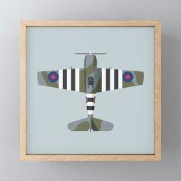 F6F Hellcat WWII Fighter Aircraft - British Framed Mini Art Print