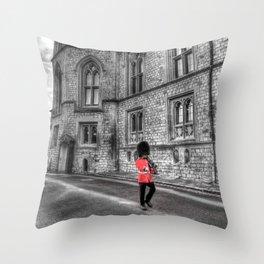 Windsor Castle Coldstream Guard Throw Pillow
