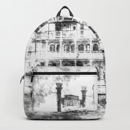 New Orleans Paddle Steamer Vintage Backpack