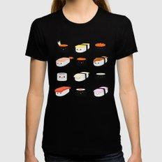 Sushi! MEDIUM Womens Fitted Tee Black