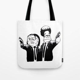 Pulp Fiction ( Patrick and Spongebob)  Tote Bag