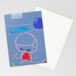 At the Gym Stationery Cards