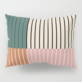 Color Block Lines V Pillow Sham