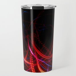Abstract red and blue light effect Travel Mug