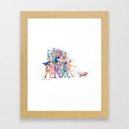 Everyone and Their Dog Pun Framed Art Print