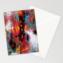 Mysterious view on cityscape Stationery Cards
