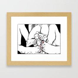 Feet Fetish Framed Art Print