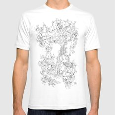 Pasolini`s Garden Mens Fitted Tee White MEDIUM