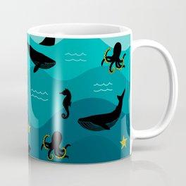 Underwater Ocean Animals Coffee Mug