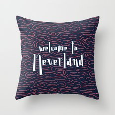 Welcome to Neverland Throw Pillow