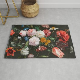 Dutch Golden Age Floral Painting Rug