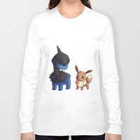eevee Long Sleeve T-shirts featuring Deino and Eevee by Lollitree