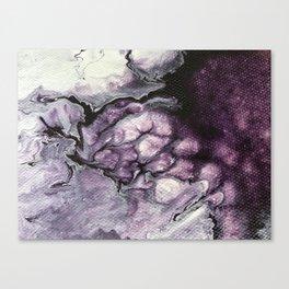 AMETHYST | Acrylic abstract fluid art by Natalie Burnett Art Canvas Print