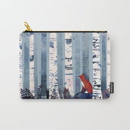 The Birches (in Blue) Carry-All Pouch