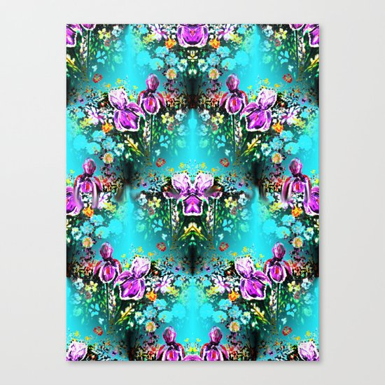 Abstract Garden Repeat Canvas Print