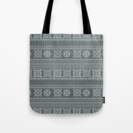 Knitted christmas pattern Tote Bag