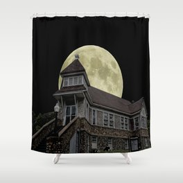Super Moon Rising Shower Curtain