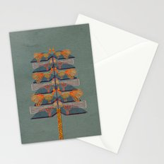 Lovebirds in a tree Stationery Cards