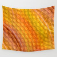 orange pattern Wall Tapestries featuring Pattern orange by Christine baessler