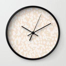 Boho Abstract Speckled Painted Pattern by Erin Kendal Wall Clock