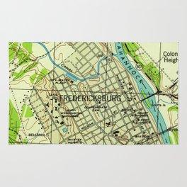 Vintage Map of Fredericksburg Virginia (1944) Rug