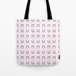 Audrey and Frank - Modern Envelopes Grid (Pink) Tote Bag