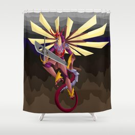Earth Shattering Dragon Shower Curtain