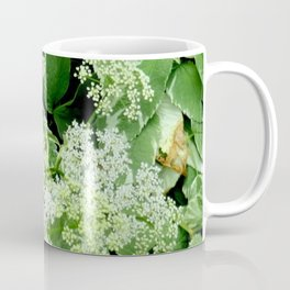 AWESOME DELICATE GREEN LACE FLOWERS Coffee Mug
