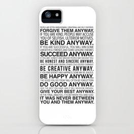 Forgiveness Manifesto iPhone Case
