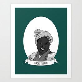 Wangari Maathai Illustrated Portrait Art Print