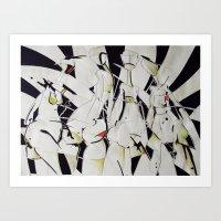 women Art Prints featuring women by KA Art