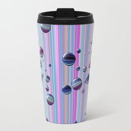 Сolored bubbles and stripes Travel Mug
