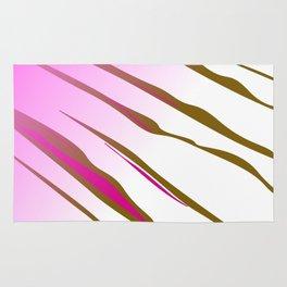 wild lines, exotic pink Rug