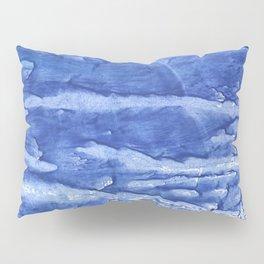 Steel blue vague watercolor painting Pillow Sham
