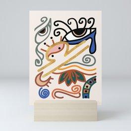 Abstract Libra Zodiac Sign Mini Art Print